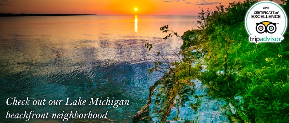 Door County Hotels and Lodging - Sturgeon Bay Beachfront Resort