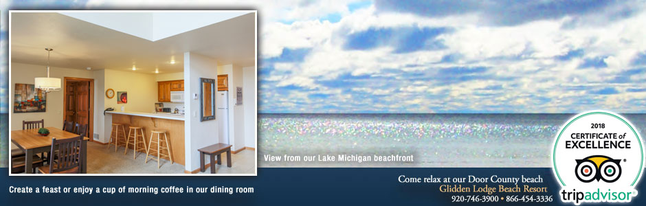 Glidden Lodge Door County Beach Hotels and Resorts in Wisconsin