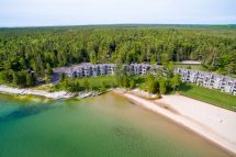 Lake Michigan Shoreline and Beach Forest at Door County Hotel and Resort