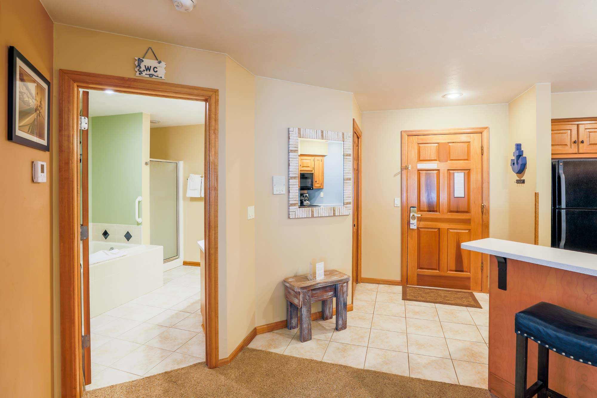 Bathroom of Glidden Lodge, one of Sturgeon Bay's Best Reviewed Hotels