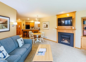 One Bedroom Living Room of Glidden Lodge, one of the Best Door County Hotels