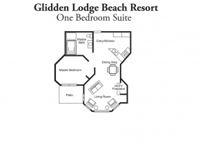 One Bedroom Resort Layout of Glidden Lodge Resort