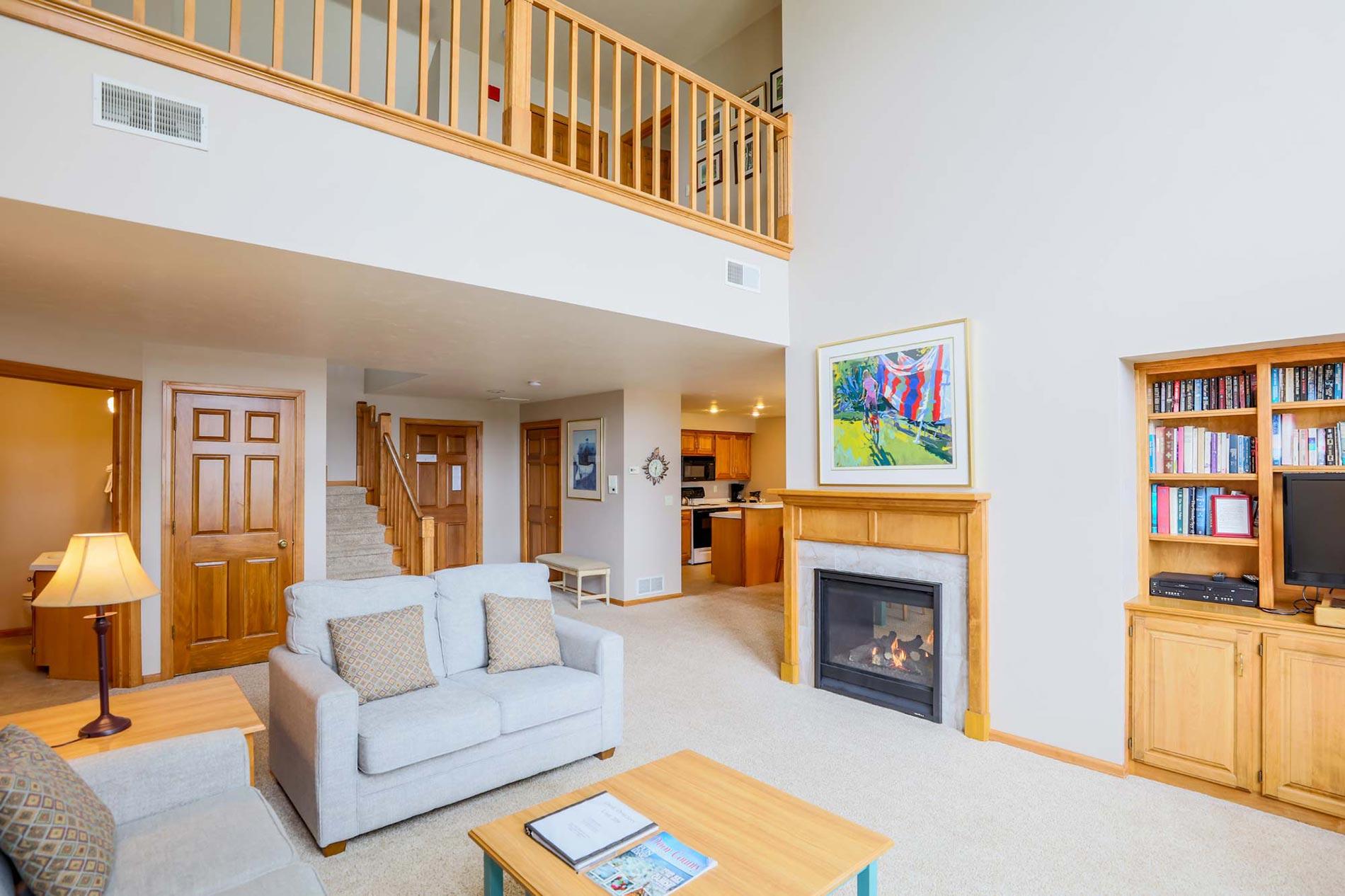 Three Bedroom Living Room of Glidden Lodge, one of the Best Door County Hotels