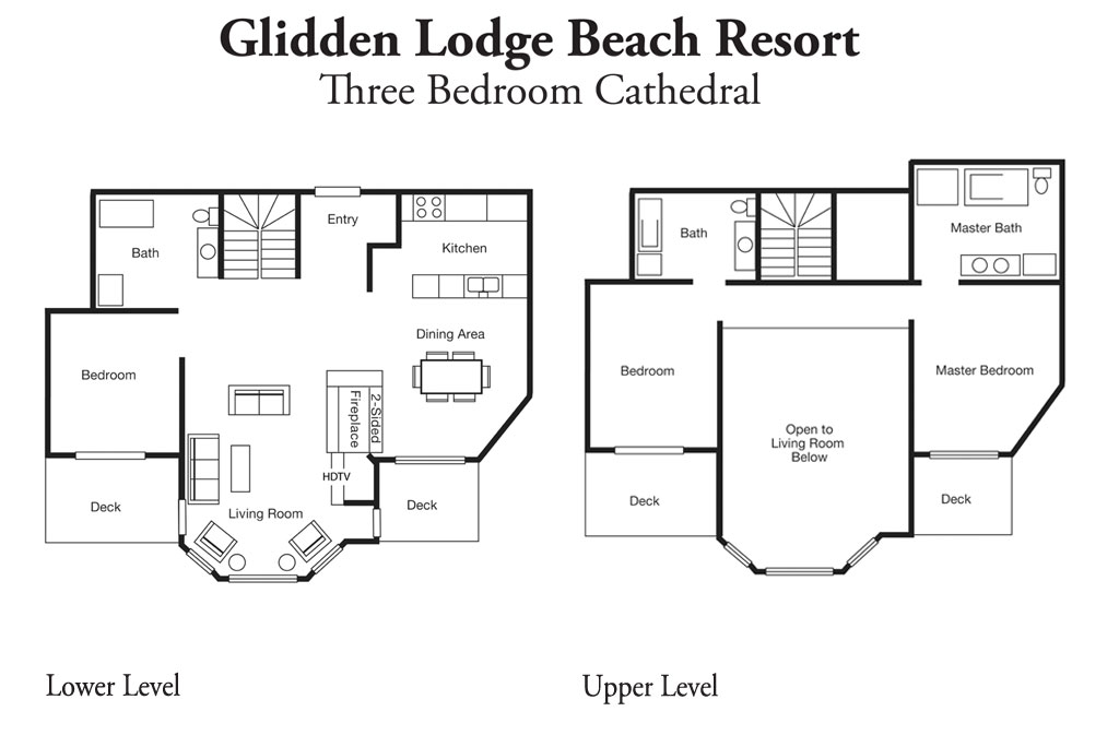 3 Bedroom Layout of One of the Best Door County Hotels and Resorts