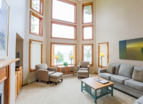 Three Bedroom Living Room of Glidden Lodge, one of the Best Door County Hotels