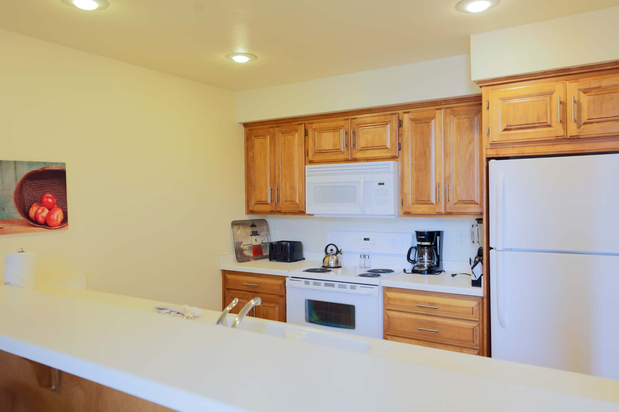 Kitchen of Luxury Three Bedroom Vacation Rental at Door County Hotel