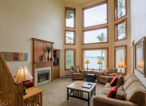 Living Room of Luxury Three Bedroom Vacation Rental at Door County Resort