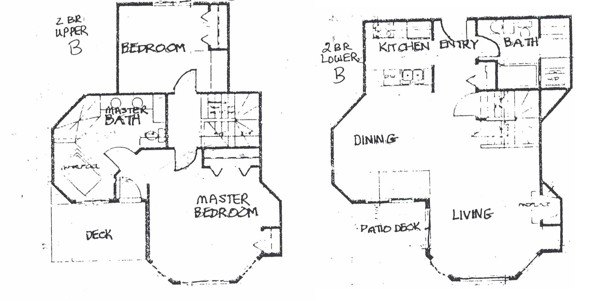 Layout of Two Bedroom Hotel Suite at Door County Resort