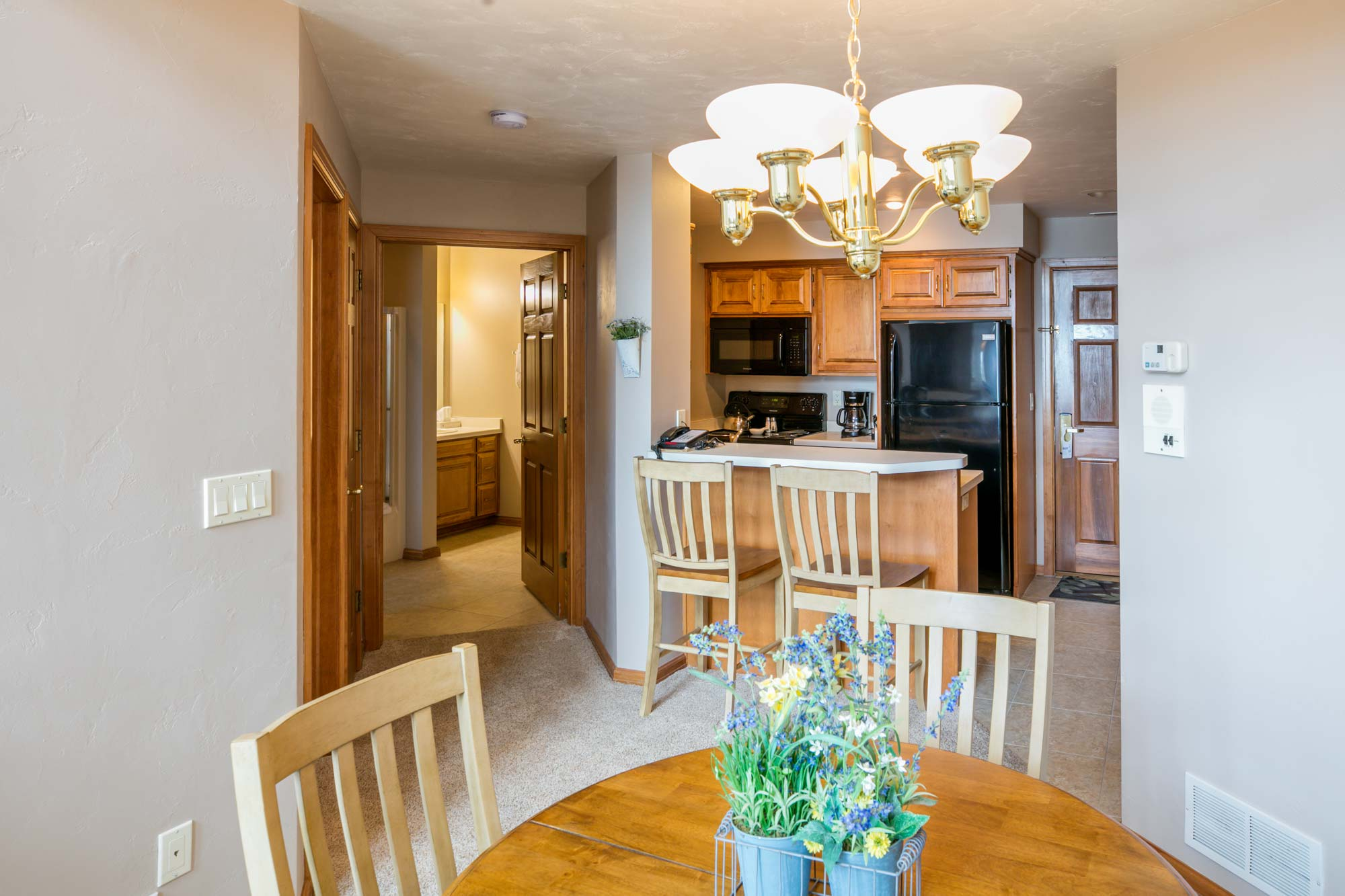 Kitchen at Vacation Rental and Resort in Door County, Wisconsin