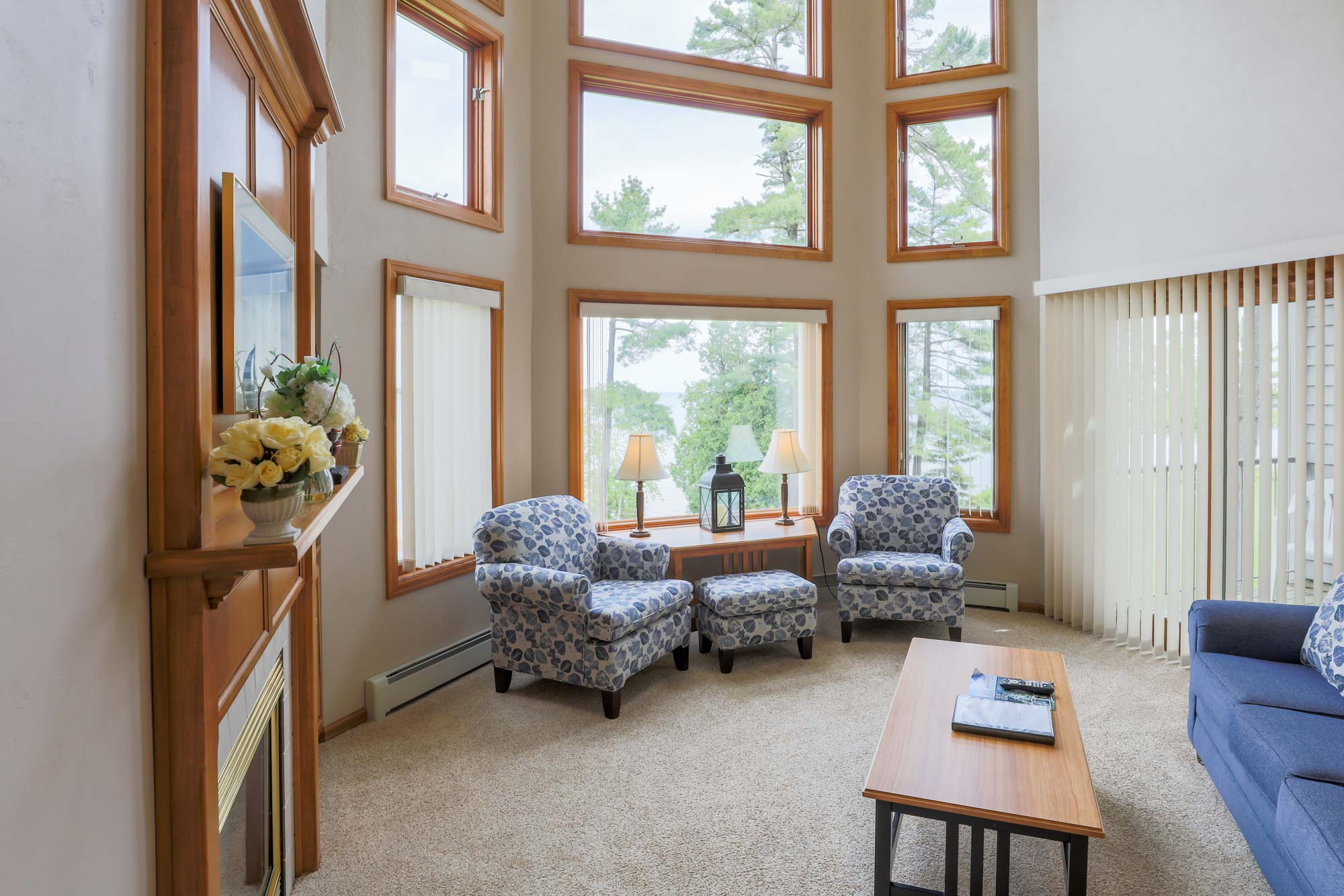 Door County Lodging and Resort with Cathedral Ceilings