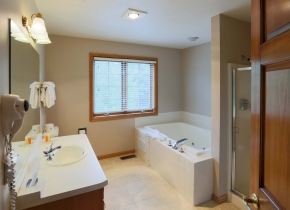 Bathroom at Glidden Lodge, a Door County Waterfront Hotel
