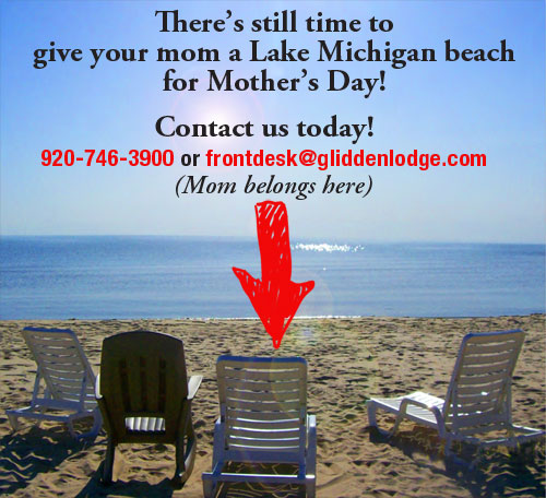 Mothers Day at a door county beach