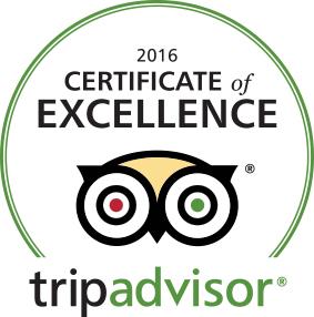 2016 TripAdvisor Cert of Excellence