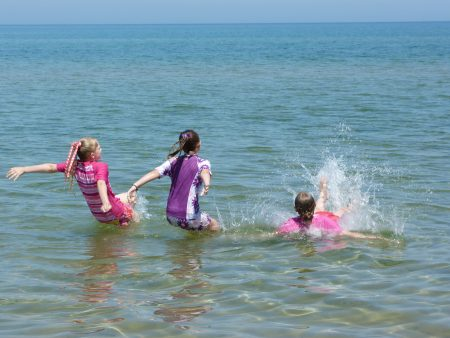 Enjoy beach and swimming at Waterfront Hotel in Door County, IW