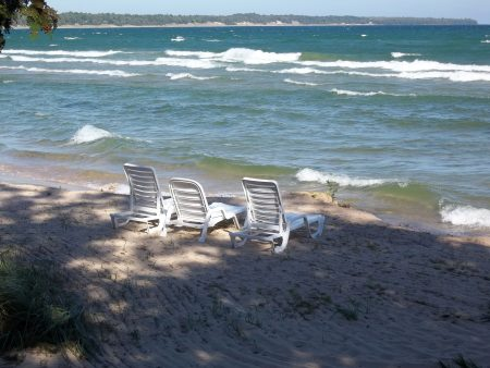 Watch the Waves from the Beach at Our Door County Hotel and Resort