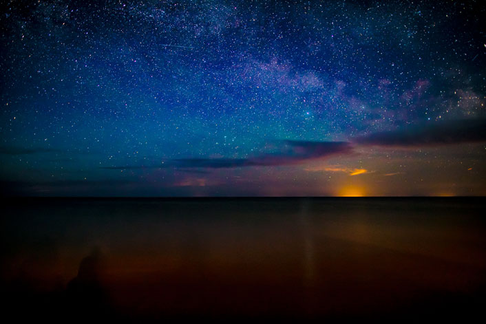 Door County Sky and Stars at Glidden Lodge Beach Resort, a Door County Hotel