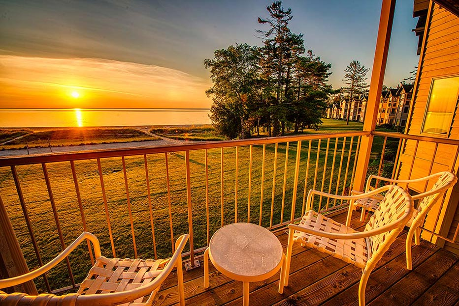Sunrise at Door County Resort in Sturgeon Bay, WI
