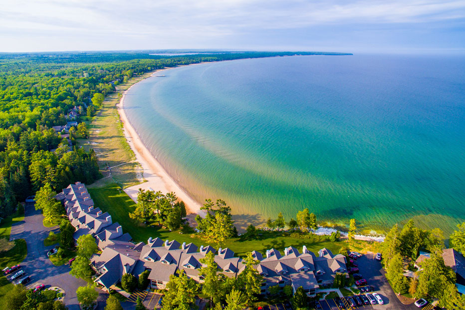 Enjoy the Peace and Quiet of Lake Breezes and Beach Waves at Our Door County Waterfront Resort