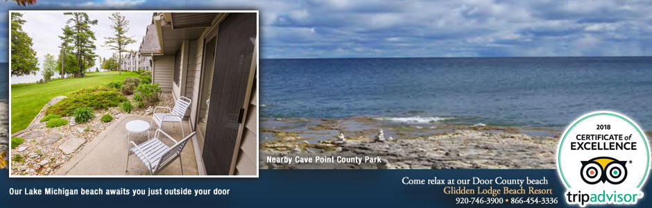 Door County Resorts Near Sturgeon Bay's Scenic Cave Point County Park