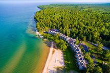 Door County Hotel and Resort Aerial View of Glidden Lodge