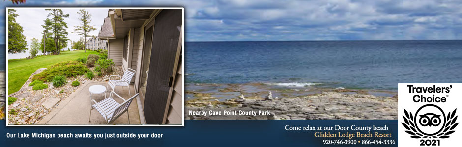 Door County Resorts Near Sturgeon Bay's Scenic Cave Point County Park
