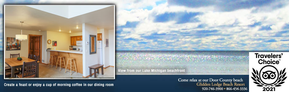 Glidden Lodge Door County Beach Hotels and Resorts in Wisconsin